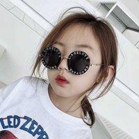 النظارات الشمسية خمر المعادن الاطفال الصغير النحل الفتيات الأزياء جولة الطفل رسالة للطفل المتضخم عيون gafas