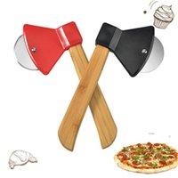 Paslanmaz Çelik Pizza Tek Tekerlekli Kesme Araçları Balta Şekli Ev Pizza Kesici Pizza Bezi Waffle ve Hamur Kurabiye için FWB6725