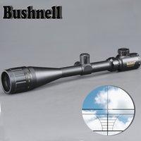 Bushnell Gold 6-24x50 Aoe Riflescope 조정 가능한 녹색 빨간색 도트 사냥 빛 전술 범위 레티클 광학 시력 범위
