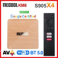 Mecool KM6 4GB 32GB ATV Android 10 TV BOX AMLOGIC S905X4 AndroidTV 10.0 Google Certifié Dual WiFi 6 1000m Media Player