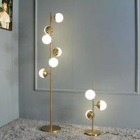 Floor Lamps Modern LED Lamp Nordic Loft Metal White Ball Living Room Sofa Standing Lihgt El Bedroom Deco Lights Bedside Desk