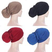 Beanie Skull Caps Inner Hijab Cap Muslim Turban Islam Adjustable Underscarf Undercap Bonnet Soft Jersey Stretch HIjabs Tube Turbante Hat