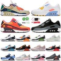 Nike Air Max 90 إمرأة رجل الاحذية الهواءماكسايرماكس chaussures 90S كامو سوبر نوفا الثلاثي أبيض أسود أخضر ديو الأحذية مدربين الرياضة أحذية رياضية
