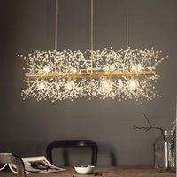 Cristal moderno LED G9 Dandelion Chandelier Iluminação para sala de jantar / restaurante lojas Winfordo WF-P12L Candeleiros