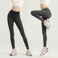 Hauteur de la cuisse femmes leggings et style américain respirant pants de yoga respirant de la taille de la taille de la taille de la gym de sport d'entraînement des vêtements sans soudure de la hanche