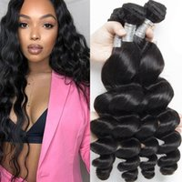 9A Virgin Remy Human Hair Extensions Unprocessed 3 Bundles Loose Wave Brazilian Peruvian Malaysian Indian Weaves Weft