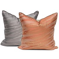 Cushion Cover Square Pillow Case Modern Luxury Artistic Simple Feather Jacquard Sofa Chair Coussin Room Decor Cushion Decorative