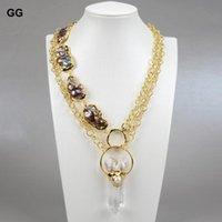 Joyas Natural Culturado Negro Keshi Baroque Pearl Color Cadena Collar Cadena Colgante Claro Cuarto Carteles para Mujer Cadenas