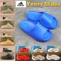 С коробкой yeezy Slides тапочки сандалии обувь пены бегун Enfora Enflame Orange Bone Risin Земля коричневые тройные черные мужчины женщины Kanye West Slide