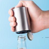Stainless Steel Bottle Openers Push Down Automatic Beer Opener Kitchen Tool EWE9678