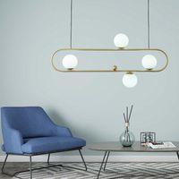 펜던트 램프 노르딕 다이닝 룸 빛 현대적인 미니멀리스트 램프 바 장식 크리 에이 티브 유리 패션 매달려 조명