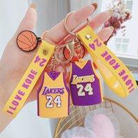 سلاسل مجوهرات diy الكرتون كرة السلة جيرسي المفاتيح لصبي على ظهره سيارة مفتاح سلسلة قلادة عيد الحب هدية بالجملة