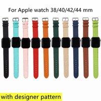 فاخر مصمم watchbands حزام ل أبل ووتش الفرقة 42 ملليمتر 38 ملليمتر 40 ملليمتر 44 ملليمتر iwatch 5 4 3 2 العصابات أزياء إلكتروني prin الجلود الأشرطة
