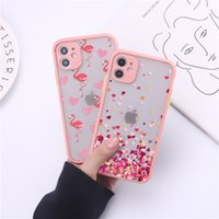 Flamingo Matte Protective Floral Cases For iphone 12 MINI 11 Pro X XS MAX XR 8 7 Plus Unicorn Phone Case Frosted Camera Protection Back Cover 100pcs