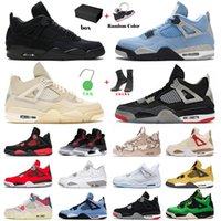 Jordan4s Mens Basketball Shoes Jordan 4s Retro Jumpman Air Jorden 4 Travis Scotts Cactus Jack IV Black Cat White Off Infrared Toro Oreo University Blue Wild Things Veterans Day