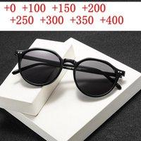 Vintage Redondo Sol Bifocal Lectura Gafas Hombres Mujeres Retro Gafas de sol Lector Diopter Diopter Magnifier Presbyopic NX