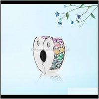 New Arrival Profusion Colour Heart Clips Charm Set Original Box For Pandora Diy Bracelet Cz Diamond Charms Jewelry Accessories Xddip Hl2If