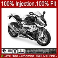 Injection Mold Body For BMW S-1000 S1000 S 1000 RR S1000RR 19 20 21 22 Bodywork 21No.34 S 1000RR S-1000RR 2019 2020 2021 S1000-RR 19-21 100% Fit OEM Fairing White black