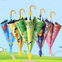 New Kids Guarda-chuvas Animais Impressão Poliéster Sunny Chuvoso Guarda-chuva Pendurado Guarda-chuva Longo Guarda-chuva Chuva Gear EWC6989