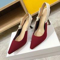 النساء المصممين الكلاسيكيات الصنادل مثير بووتي مخطط خنجر كعب إلكتروني القماش إمرأة الأحذية العلامة التجارية جلد طبيعي وحيد غرامة عالية الكعب