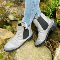 Çizmeler 2021 Bayan Sonbahar Moda Ayakkabı Katı Rahat Kadınlar Için Ayak Bileği Kadın Düşük Topuk Botas De Mujer Kadınlar