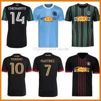 MLS 21 22 Atlanta United FC Soccer Jerseys Martinez Chicharito Pavon Jersey Barco 2021 2022 La Galaxy Player Versión Tops Beckham Kids Football Shirts