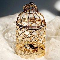 Świeczki Posiadacze BirdCage Hollow Holder Candlestick Ing Lantern Decor