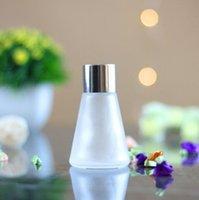 Bouteilles de verre coniques de l'aromathérapie 30ml 60 ml de lunettes de volatilisation de parfum de volaille Rattan Rotin Diffuseur LLB9146