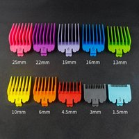 Pcs Hair Clipper Limit Comb Guide Combs Trimmer Guards Attachment Universal Professional Colorful Haircut Tools Brushes