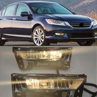 1Set Car LED Fog LightReplacment Front Bumper Fog Lights Lamp Wiring Switch Set For Honda Accord 2013 2014 2015 2016