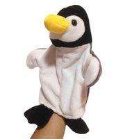 Creativo nuevo marino animal tiburón pingüino octopos sello peluche juguete de mano títere de niños