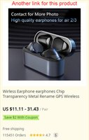 Good as apple airpods pro wireless bluetooth headphone earphones earphone headset sport stereo with ANC noice cancelling Rename GPS BT5.0