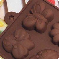 Stampi da forno DHL Stampi al cioccolato al cioccolato in silicone Caramella torta di cottura Stampo per gelatina caramelle dure, sapone, resina, fiore e farfalla SN4790 3HGU