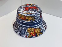 21ss Yaz Moda Pamuk Çiçek Kova Şapka Açık Spor Balıkçılık Kap Tatil Çift Taraflı Mektuplar Baskı Plaj Çiçek Geniş Ağız Balıkçı Sun Şapkalar