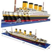 1860 PCS Mini Tijolos Modelo Titanic Cruzeiro Navio Modelo Barco DIY Diamante Blocos de Construção Tijolos Kit Crianças Crianças Brinquedos de Venda Preço H0824