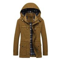 Military Thick Warm man Jacket plus size Outerwear Coats Winter Parkas Casual Cotton Padded Jackets male Multi-Pocket fur hoodies men coat Parka Hombre
