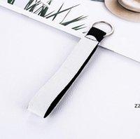 Neopren-Armband Schlüsselanhänger Bevorzugung Sublimation Print leerer Lanyard Strap Band Split Ring Schlüsselanhänger Halter Hand Handgelenk Keychain für HWD10479