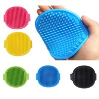 Dogs Brush Grooming Comb Bathing Brushes Pets Soft Rubber Glove Hair Fur Massage Gloves For Dog Cats 12.3*9.7cm