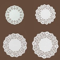 Mats & Pads 100 Pcs Lace Paper Doilies Cupcake Cookies Cake Placemat Craft Vintage Food Pad Coasters Wedding Birthday Party Supplies 4 Sizes