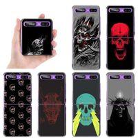 "cases Satanic Skull Dark Telephone Case Cover For Galaxy Z Flip 6.7 ""Hard Pc Coque Accidents"
