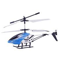 Anti-Collision 3.5CH Одинокий клинок Большой вертолет Пульт дистанционного управления Металл RC Вертолет с Gyro RTF Для Детей Открытый Летающие игрушки