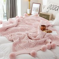 Blankets Bed Blanket Nordic Woven Knitted Wool Ball Fashion Simple Home Decoration Office Sofa Travel Air Conditioning
