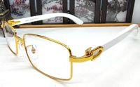 Vintage Erkekler Moda Tam Jant Ahşap Güneş Gözlüğü Beyaz Siyah Buffalo Gözlük Optik Çerçeveleri Gözlük Kutusu Ile