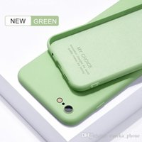 Thin Soft Cases suit iPhone 7 8 6Plus SE2 Original Liquid Cover Candy Coque Capa For apple X 11 12