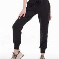 Голые-ощущение ткани тренировки спортивные пробежки брюки брюки женские талии фитнес фитнес бегущие пот с двумя боковыми карманами стиль
