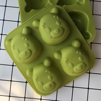 Food Grade Silicone Fondant Cupcake Cake Decorating Mold Cartoon Bear Jingle Cat Shape Jelly Pudding Baking Moulds Tools Handmade Mold