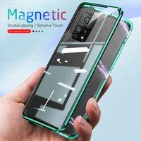 360 ° Магнитные чехлы на 360 ° для Xiaomi Mi 10T Pro 5G двойная сторона закаленного стекла Cover Cover Xiomi MI10T 10TPRO 10 т защиты