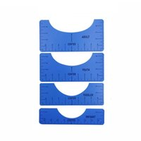 4Pcs T-Shirt Alignment Ruler Tailor-specific Guiding Design Fashion Rulers Drawing Template Sewing Tools Notions &