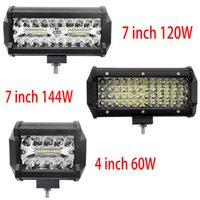 7 inç 144 W Combo LED Işık Barları Nokta Sel Işın 4x4 Spot 12 V 24 V 4WD Barra Oto Tekneler SUV ATV Işık Için LED Far