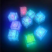 플래시 LED 아이스 큐브 화려한 빛 아이스 큐브 빛나는 LED 빛나는 유도 결혼식 축제 크리스마스 파티 장식